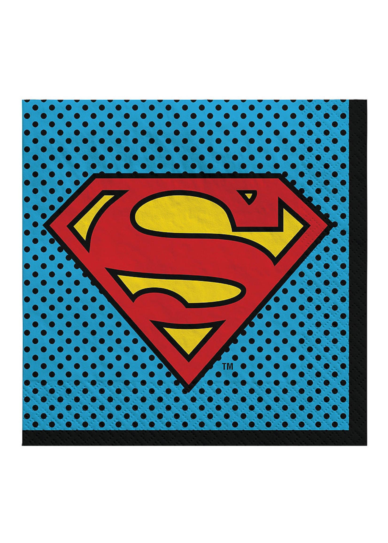 Justice League Heroes Unite Superman Lunch Napkins 16ct