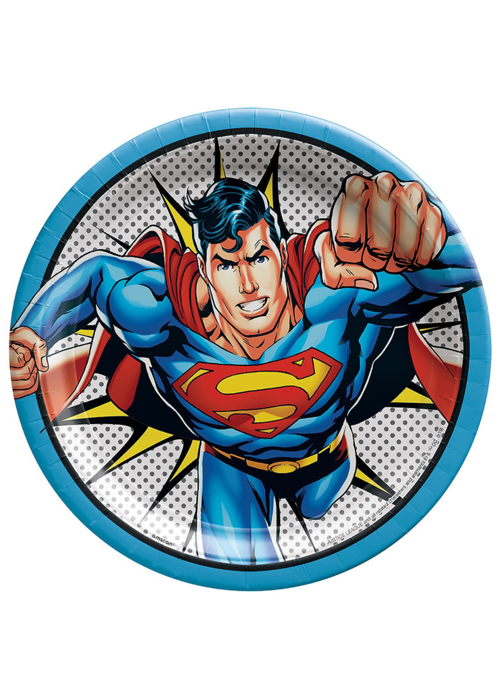 Justice League Heroes Unite Superman Lunch Plates 8ct