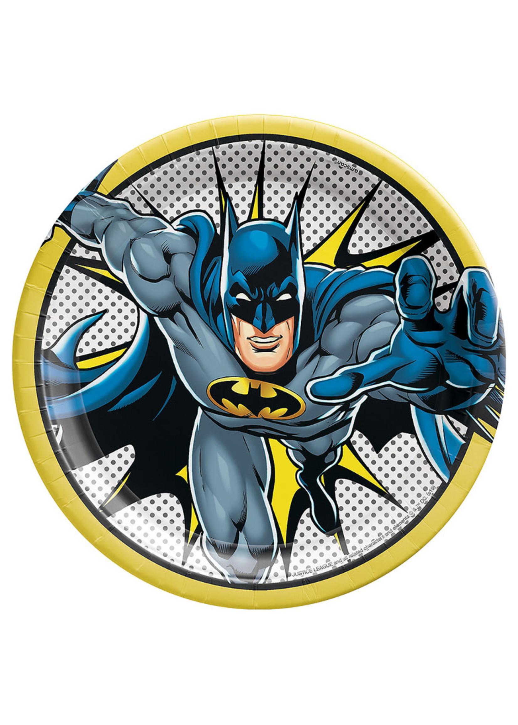 Justice League Heroes Unite Batman Lunch Plates 8ct