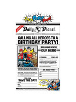 Justice League Heroes Unite Invitations 8ct