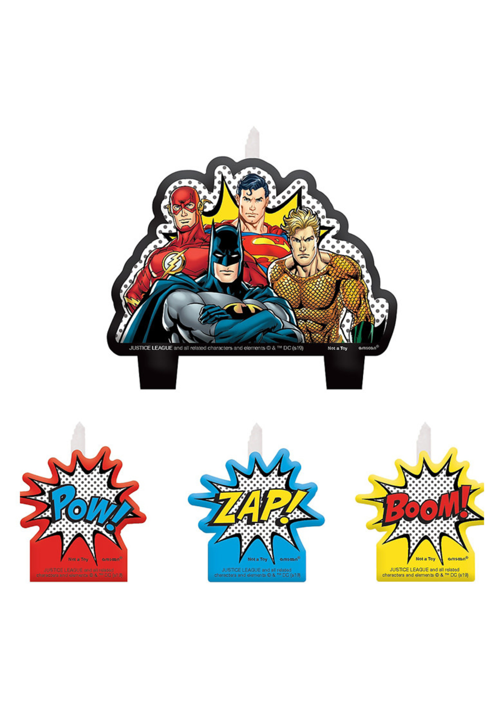 Justice League Heroes Unite Birthday Candles 4ct