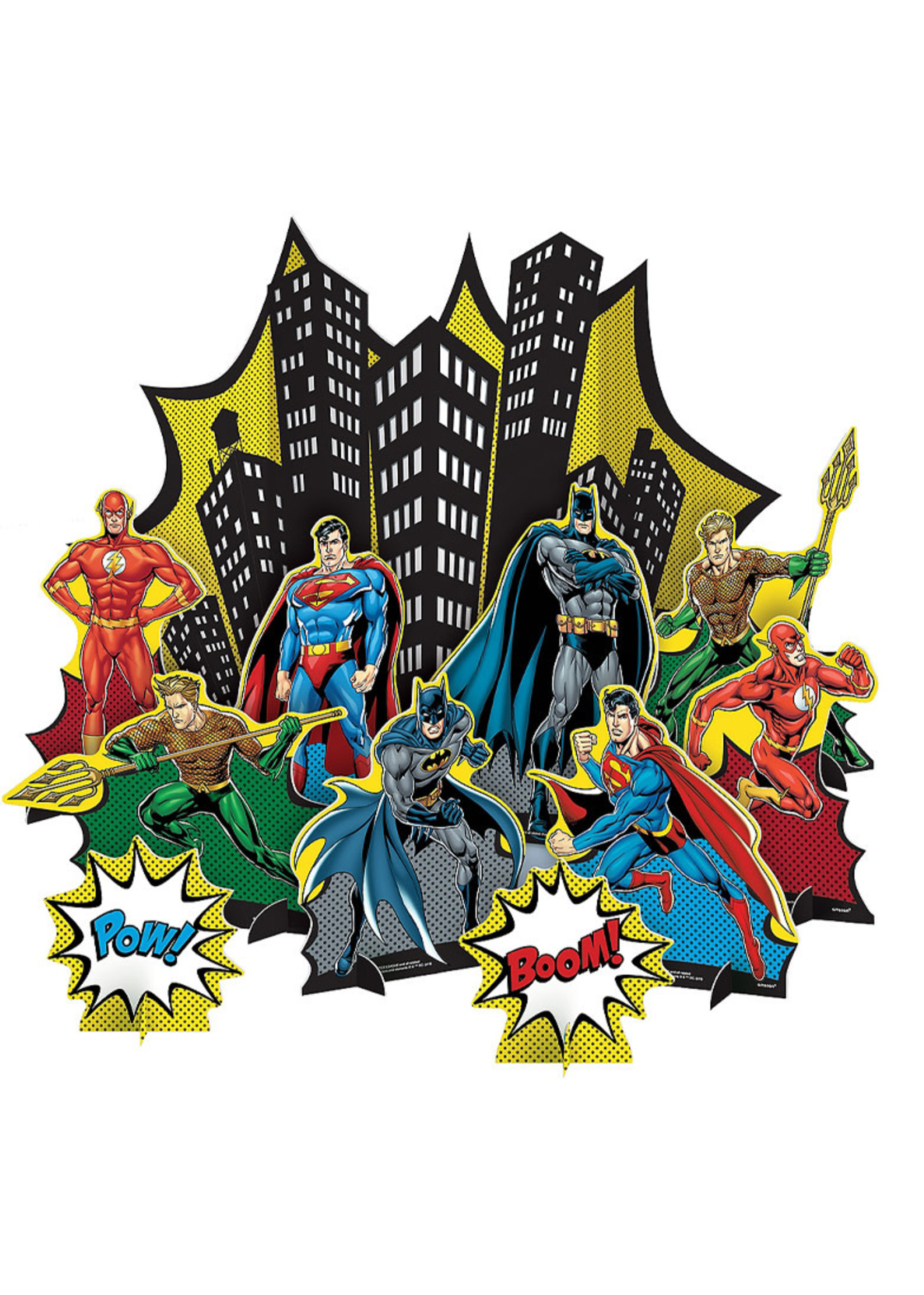 Justice League Heroes Unite Table Decorating Kit 11pc