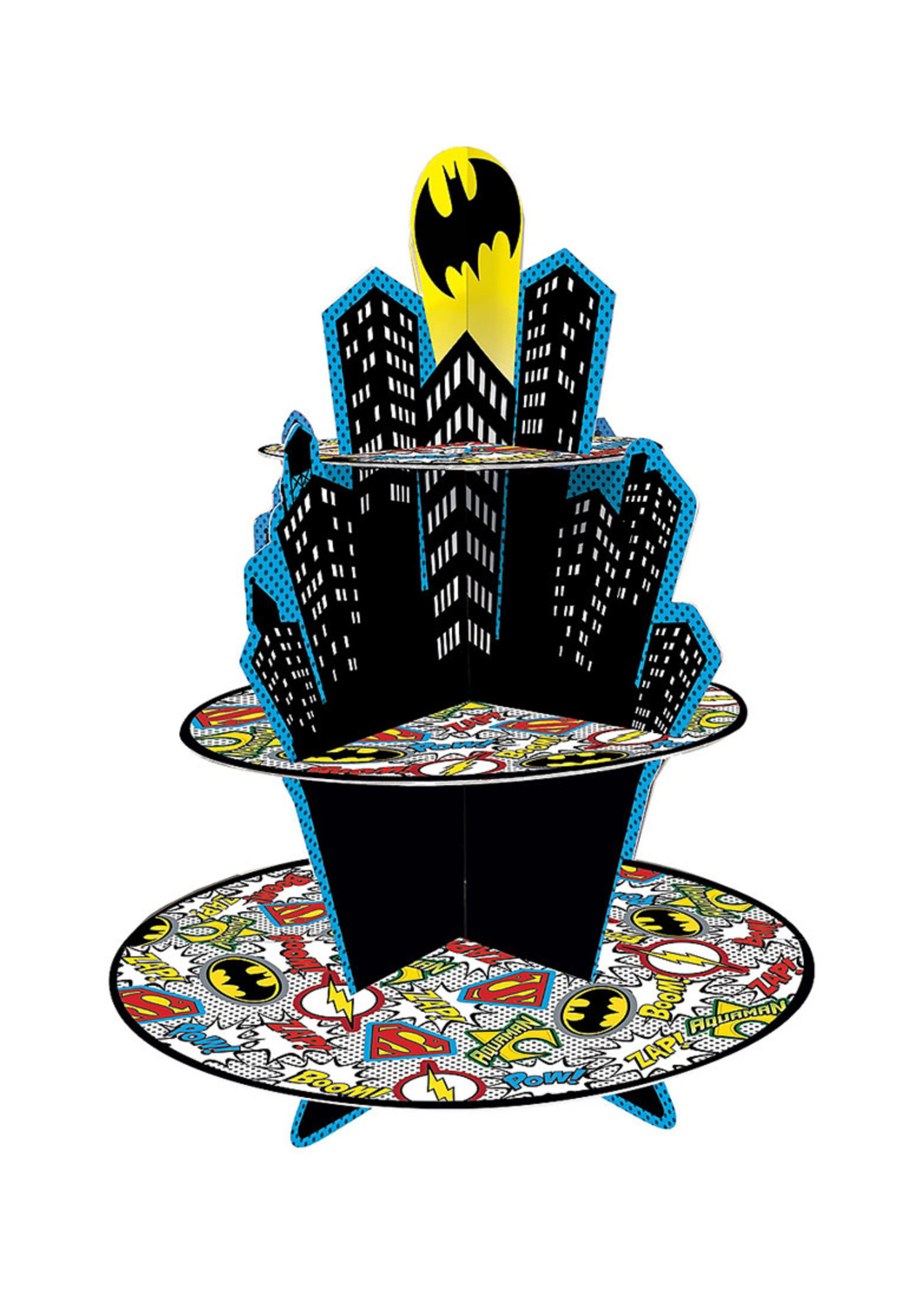 Justice League Heroes Unite Cupcake Stand