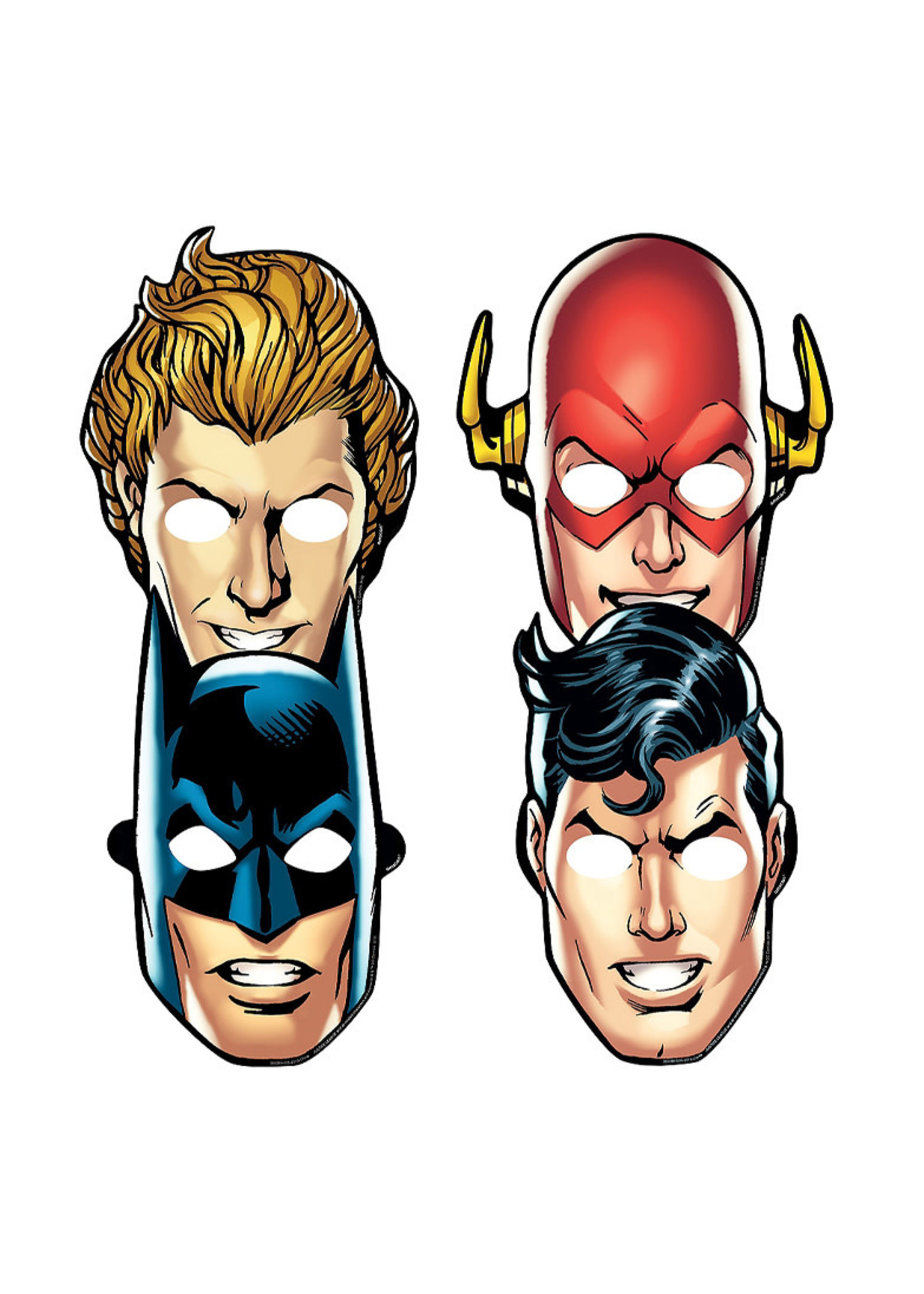Justice League Heroes Unite Masks 8ct