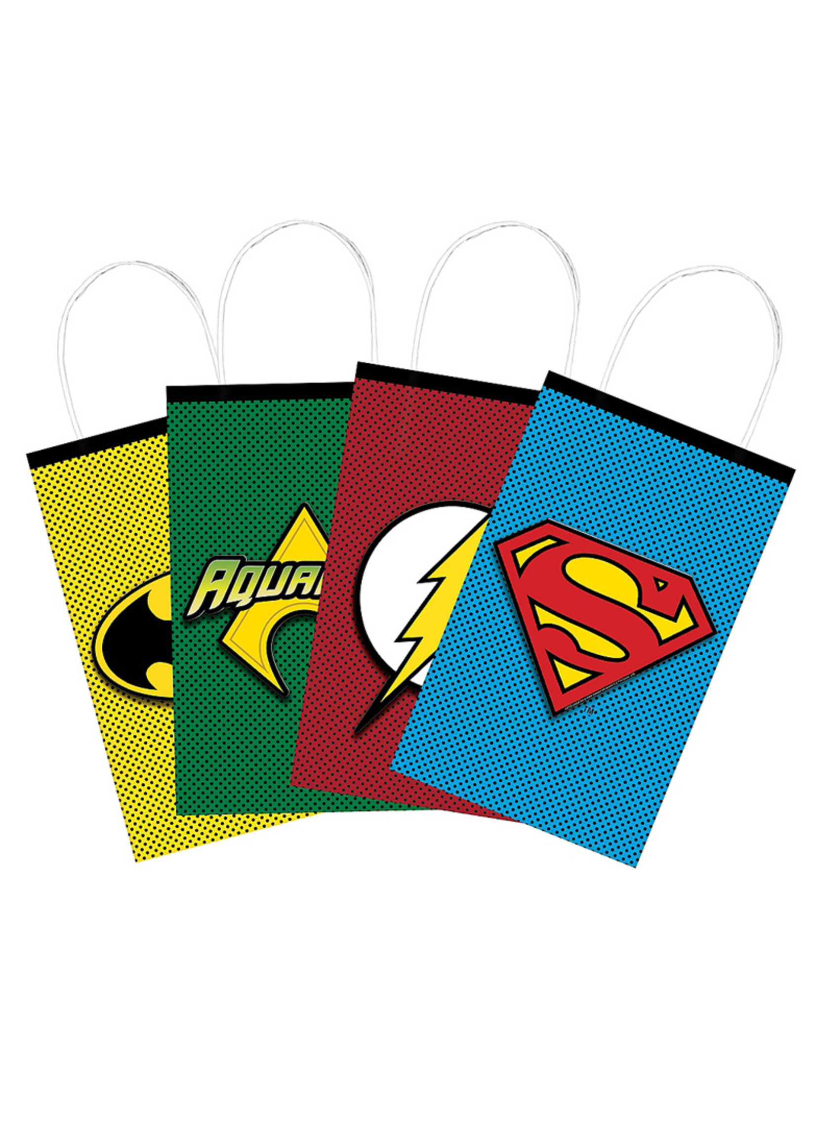 Justice League Heroes Unite Create Your Own Favor Bag Kit 8ct
