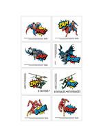 Justice League Heroes Unite Tattoos 1 Sheet
