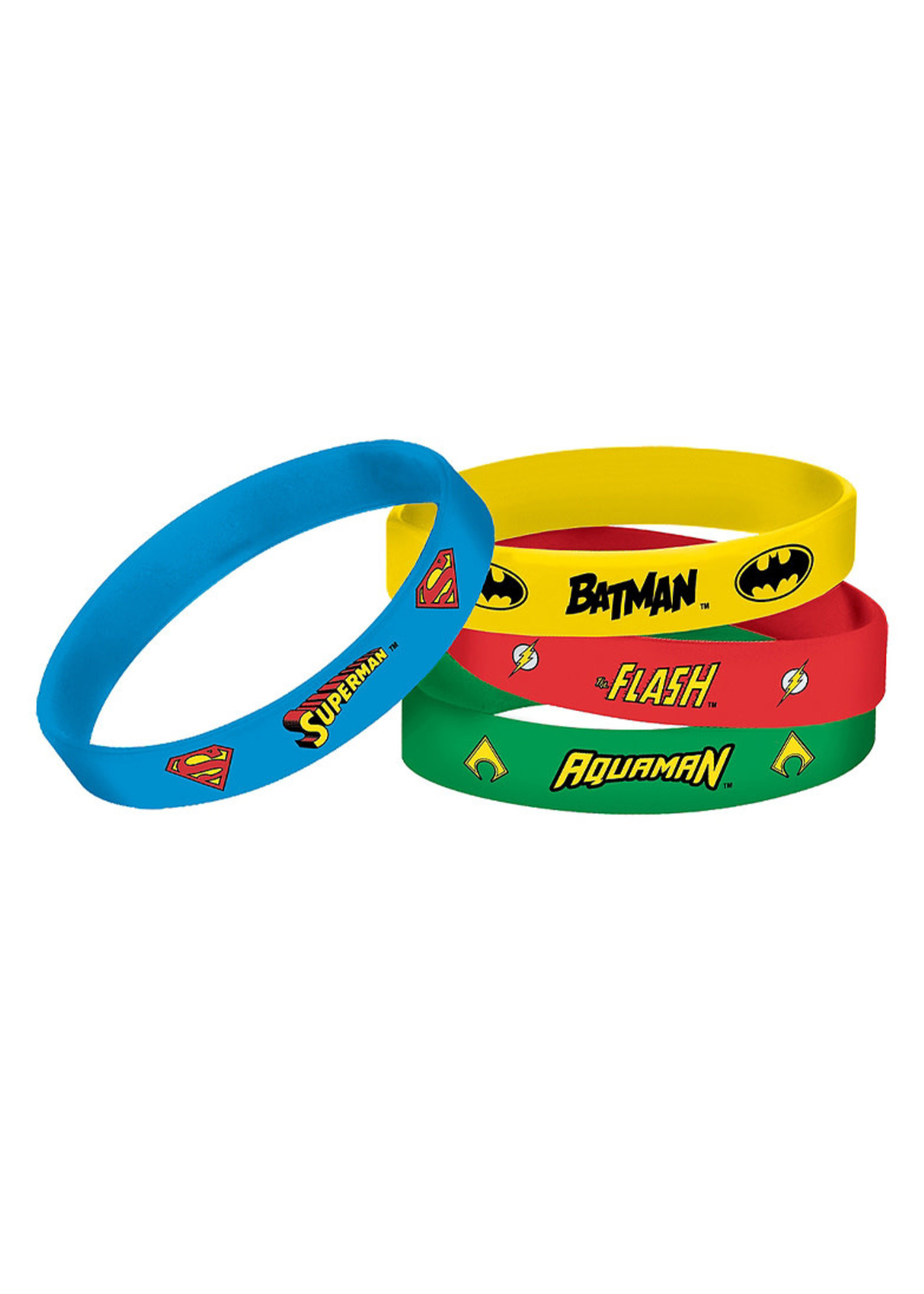 Justice League Heroes Unite Wristbands 4ct