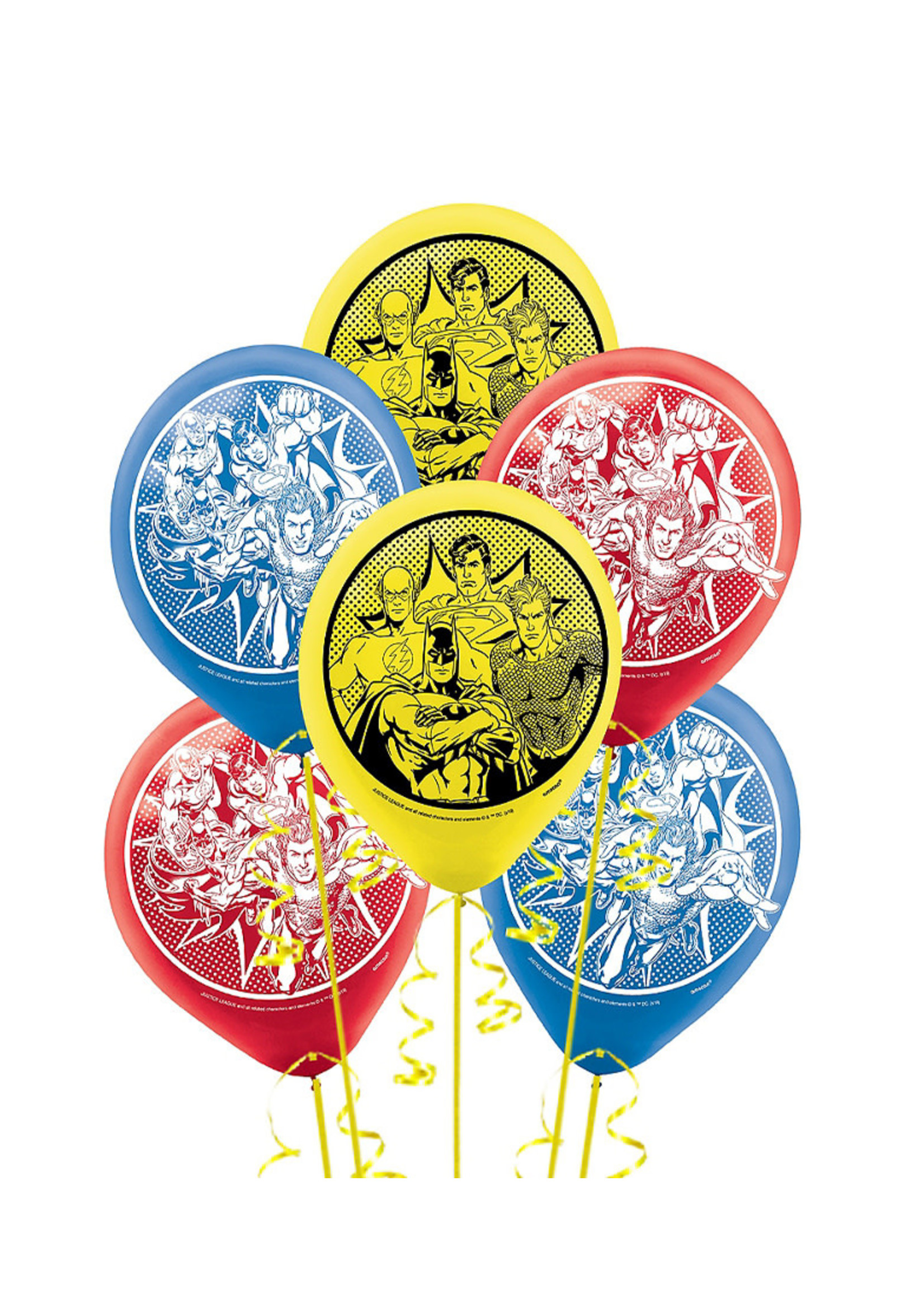Justice League Heroes Unite Balloons - 6ct