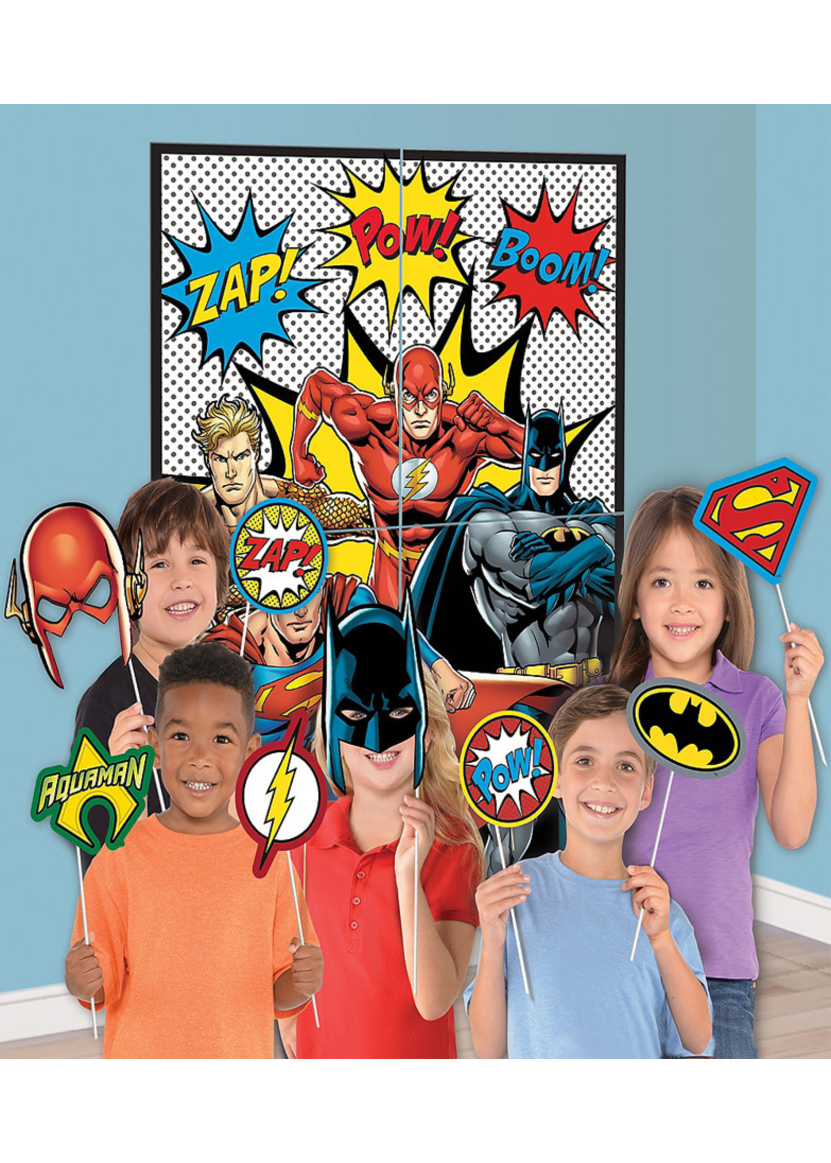 Justice League Heroes Unite Photo Booth Kit 16pc