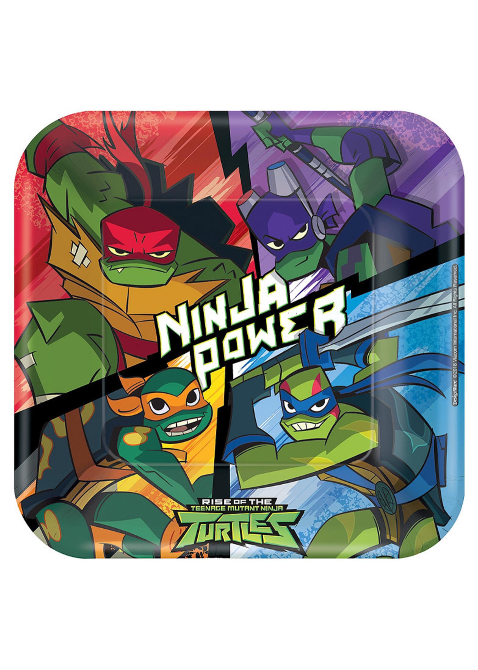 Rise of the Teenage Mutant Ninja Turtles Lunch Plates 8ct