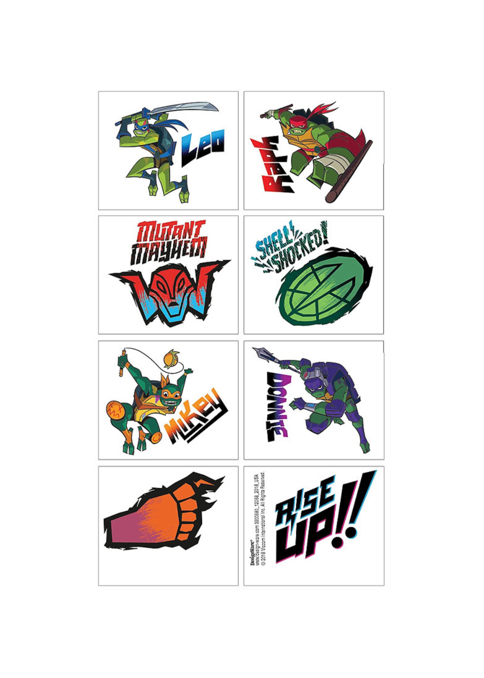Rise of the Teenage Mutant Ninja Turtles Tattoos 1 Sheet