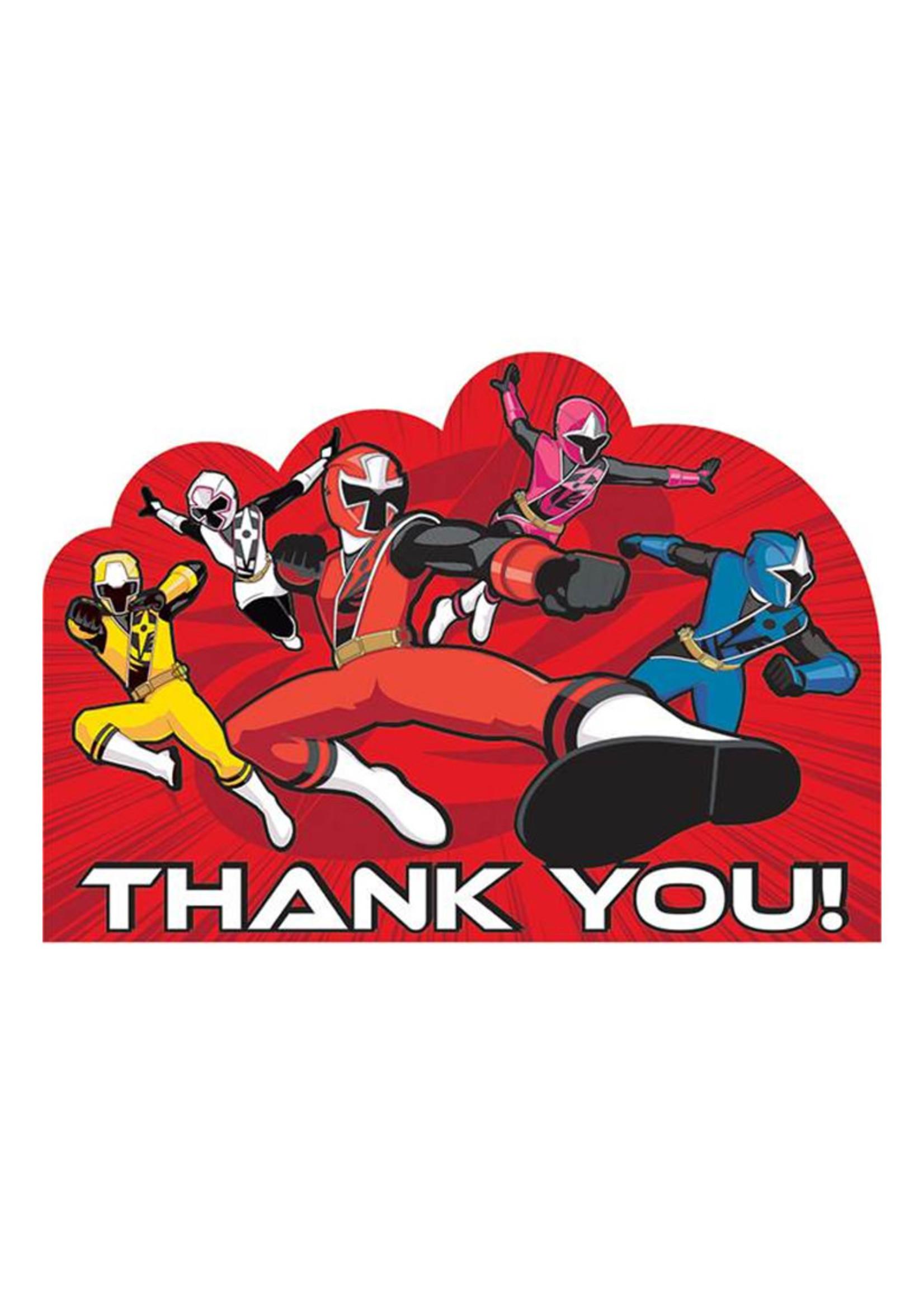 Power Rangers Ninja Steel Thank You Cards - 8ct