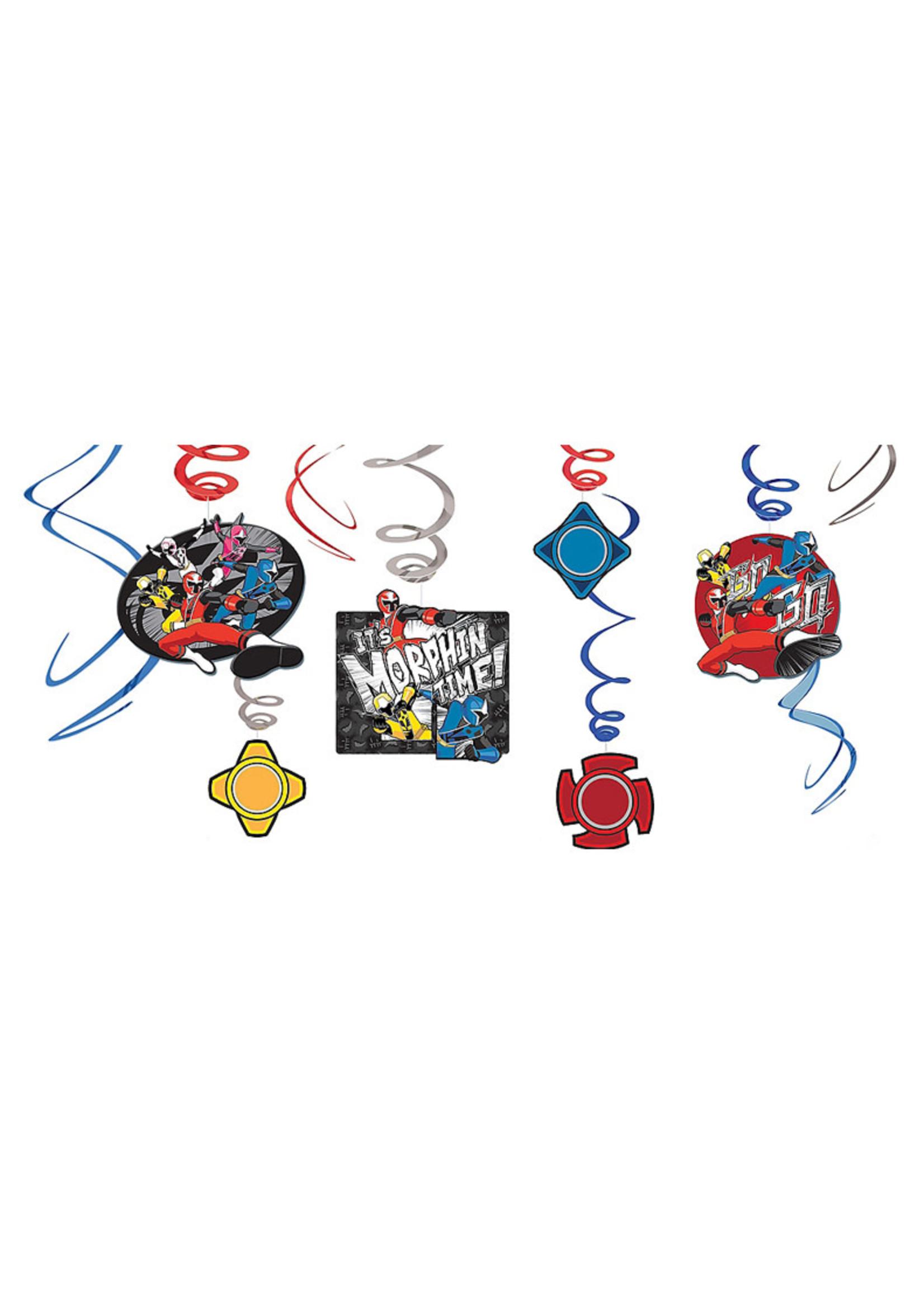 Power Rangers Ninja Steel Swirl Decorations 12ct