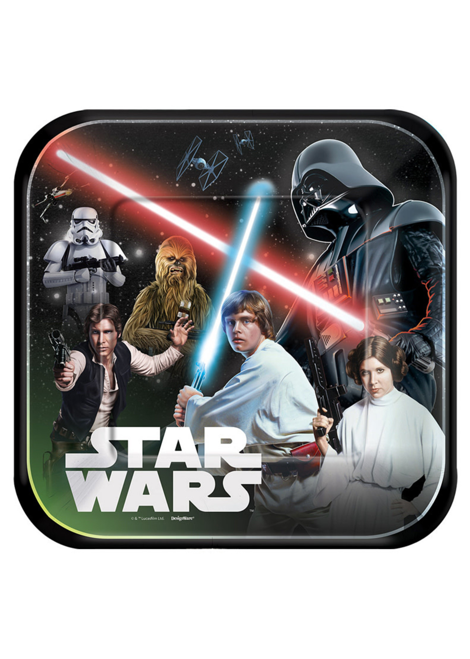Star Wars Lunch Plates - 8ct