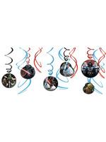 Star Wars Swirl Decorations - 12ct