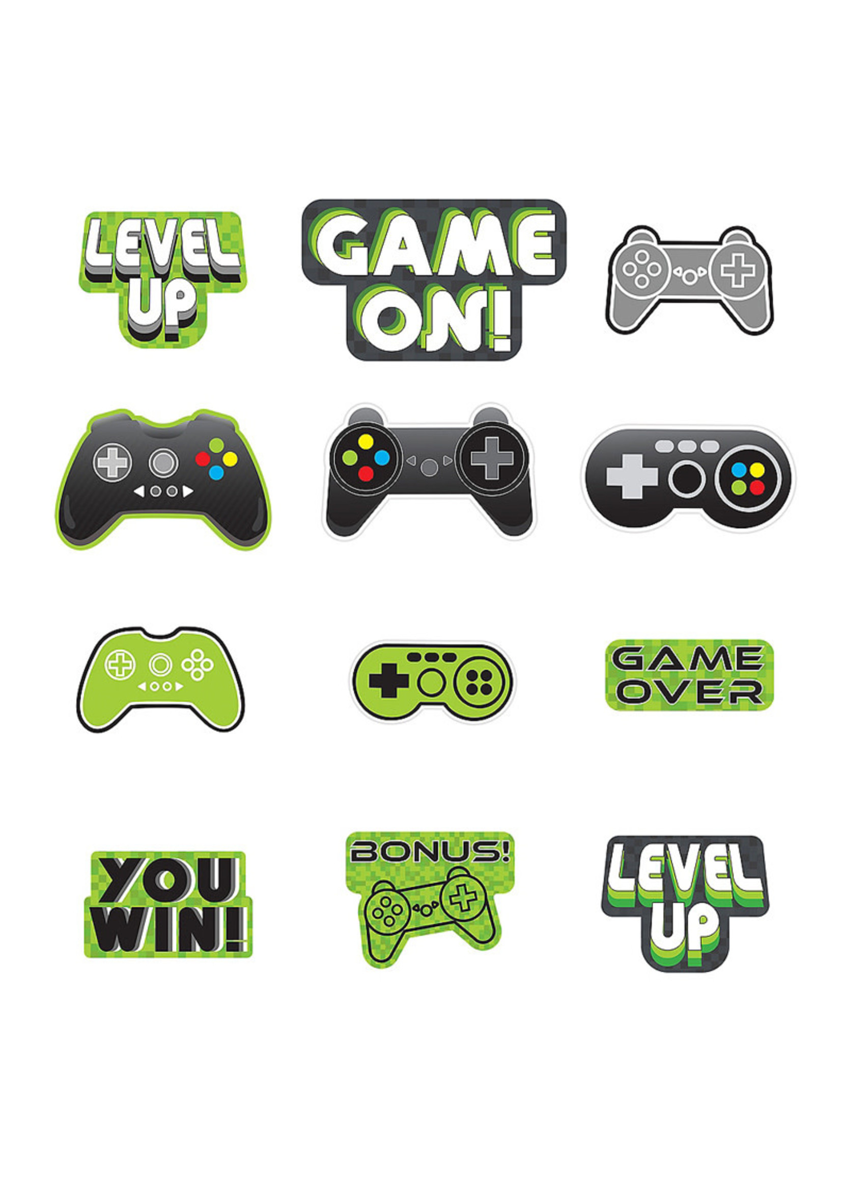 Level Up Cardstock Cutouts 12ct