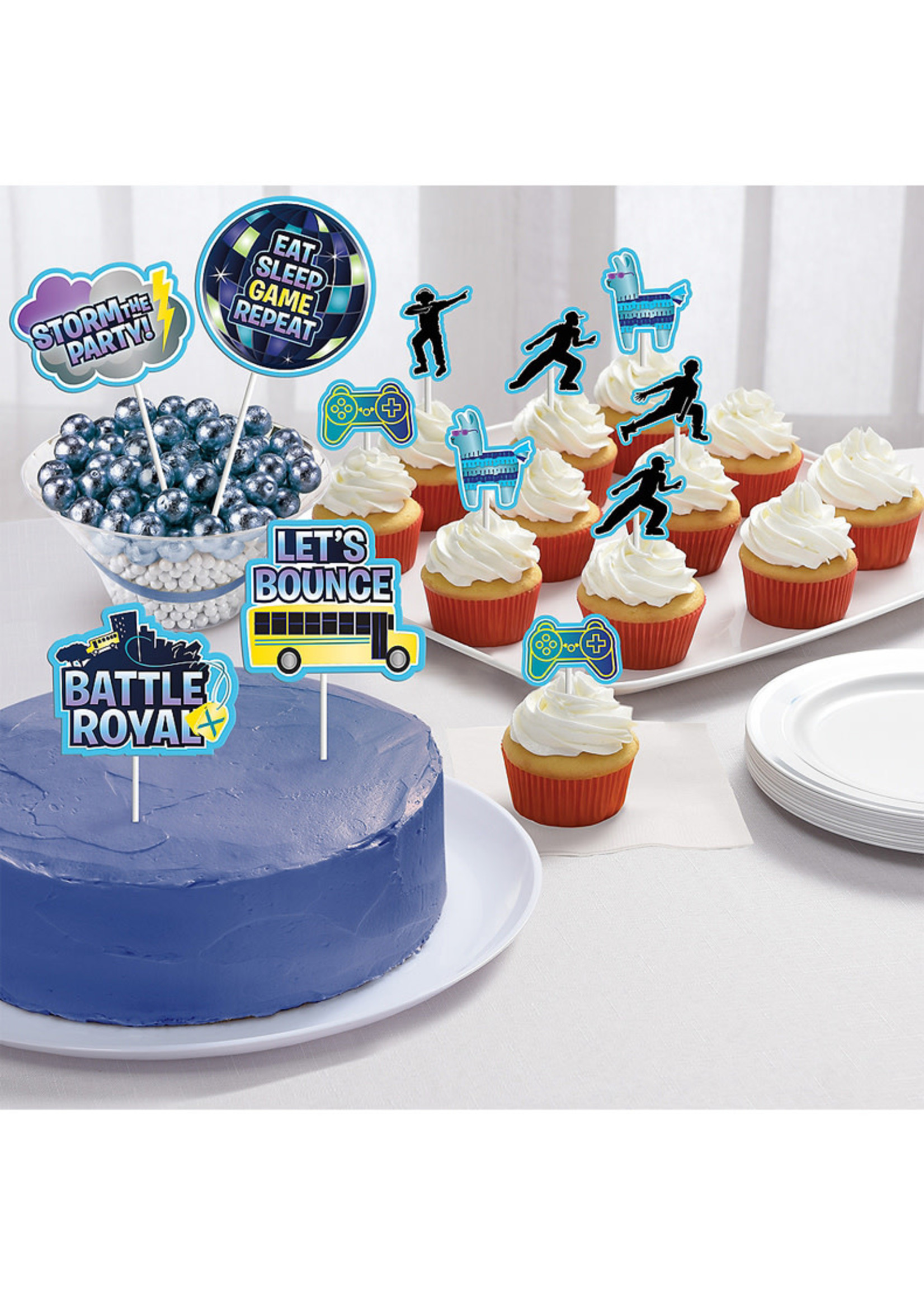 Battle Royal Cake Toppers 12ct