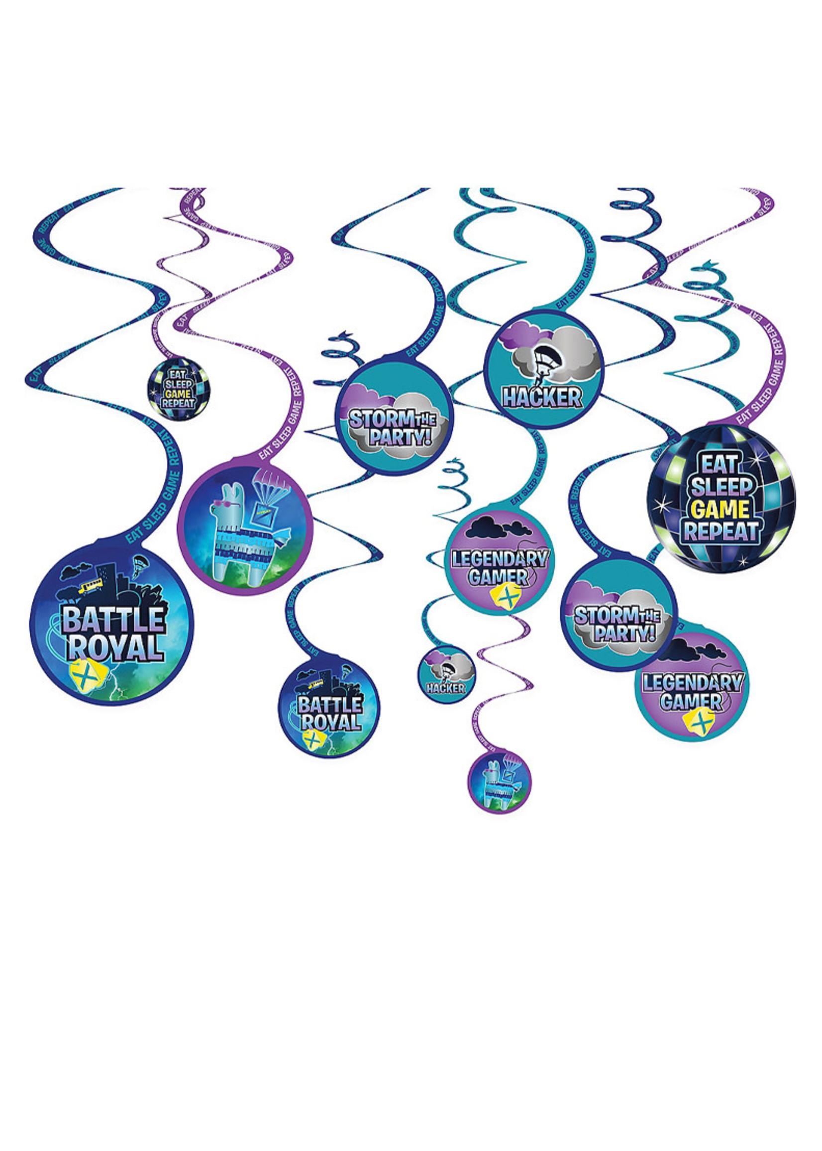 Battle Royal Swirl Decorations 12ct