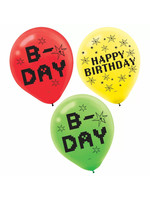 TNT Party! Printed Latex Disposable Balloons - 6ct
