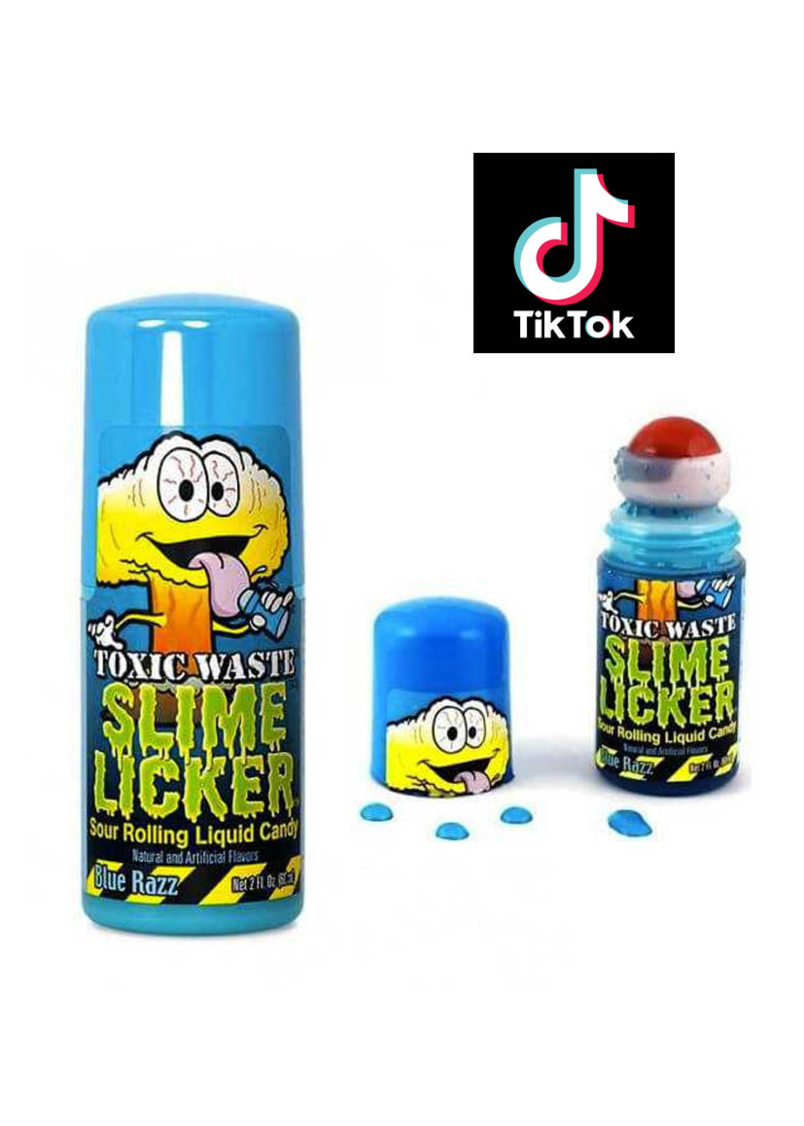 Toxic Waste Slime Licker Sour Liquid Candy - Blue Razz