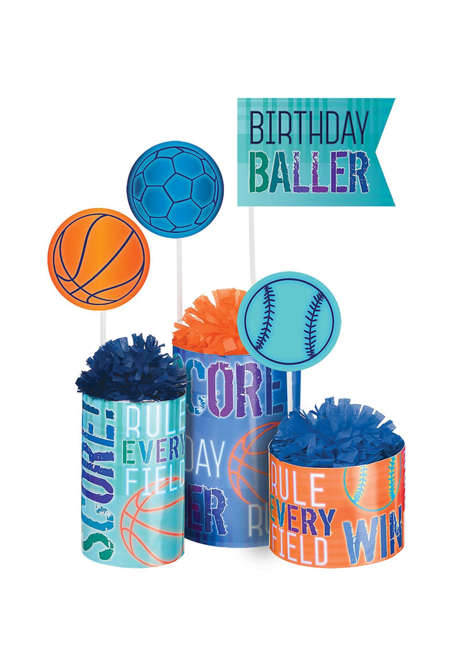 Birthday Baller Centerpiece Kit 3pc