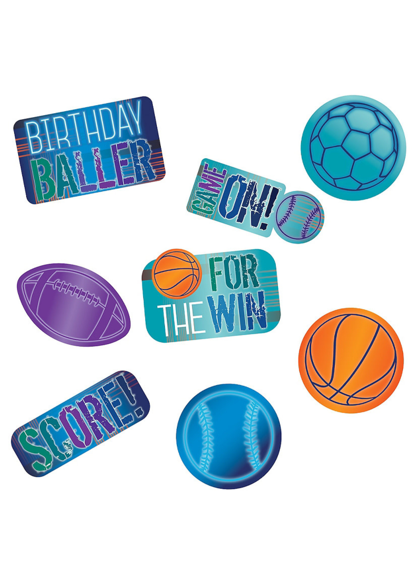 Birthday Baller Cardstock Cutouts 12ct