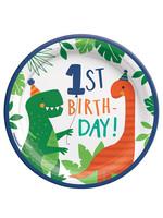 Dino-Mite 1st Birthday Dessert Plates 8ct