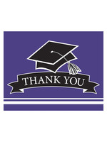 Creative Converting Purple Grad Thank You Notes - 25ct