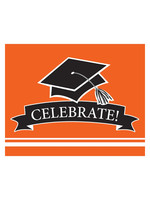 Creative Converting Orange Grad Invitations - 25ct