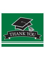 Creative Converting Green Grad Thank You Notes - 25ct