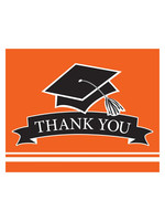 Creative Converting Orange Grad Thank You Notes - 25ct