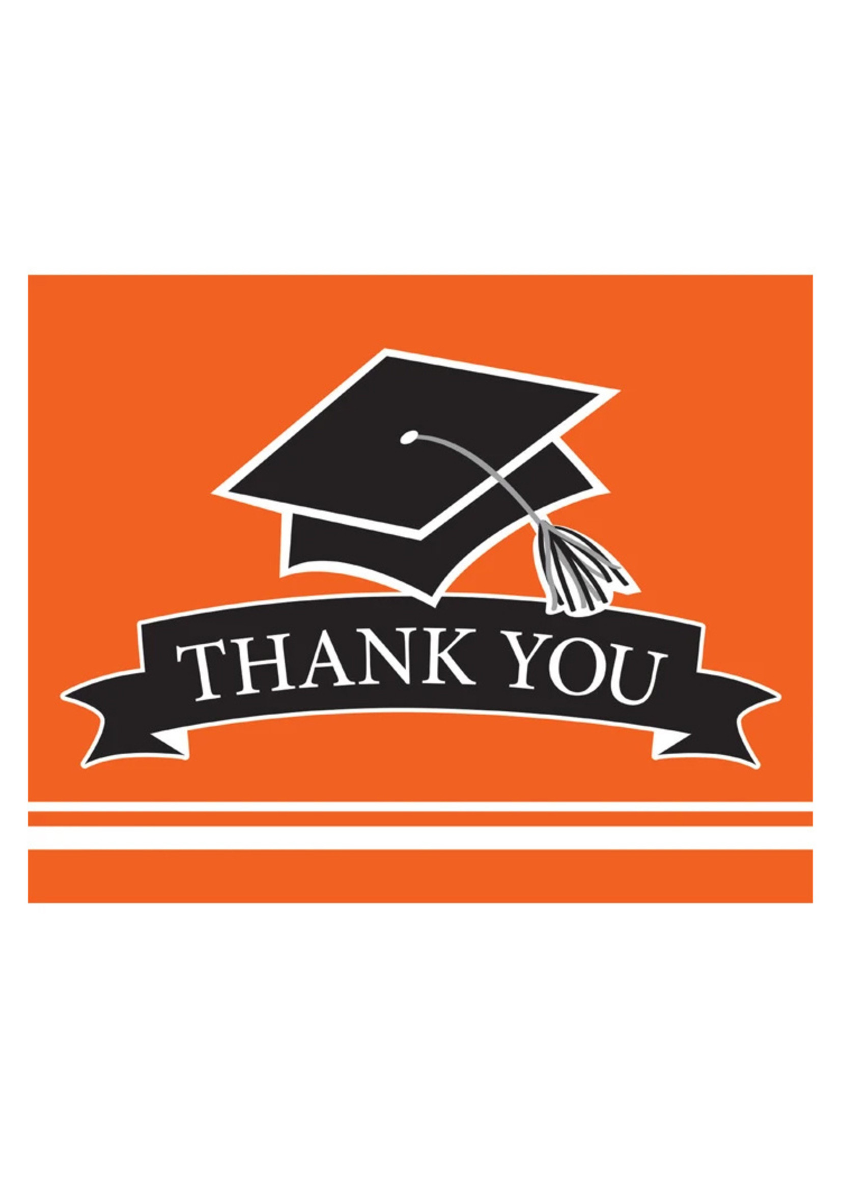 Creative Converting Orange Grad Thank You Notes - 25ct