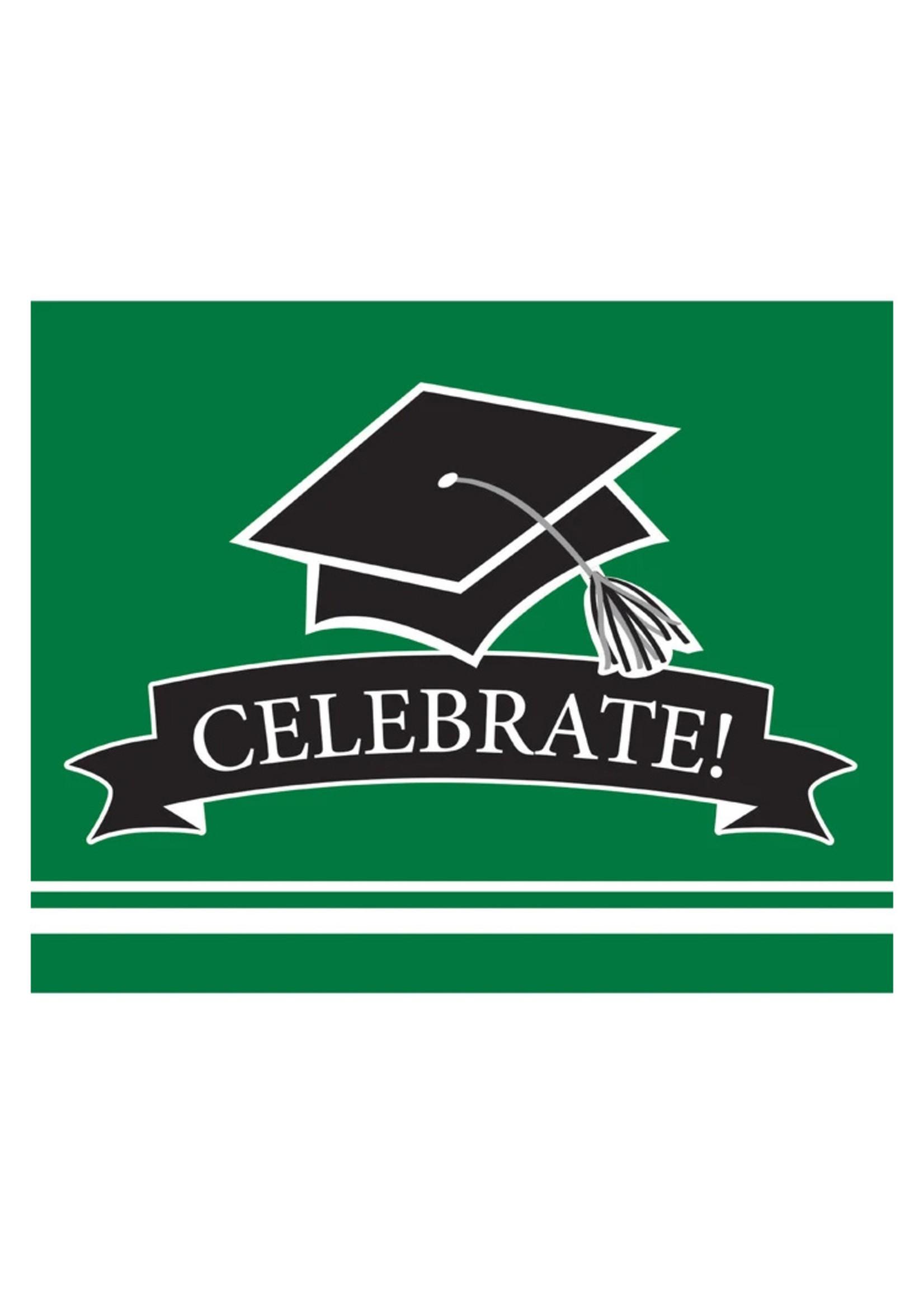 Creative Converting Green Grad Invitations - 25ct