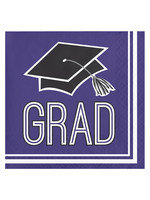 Creative Converting Purple Grad Beverage Napkins - 36ct