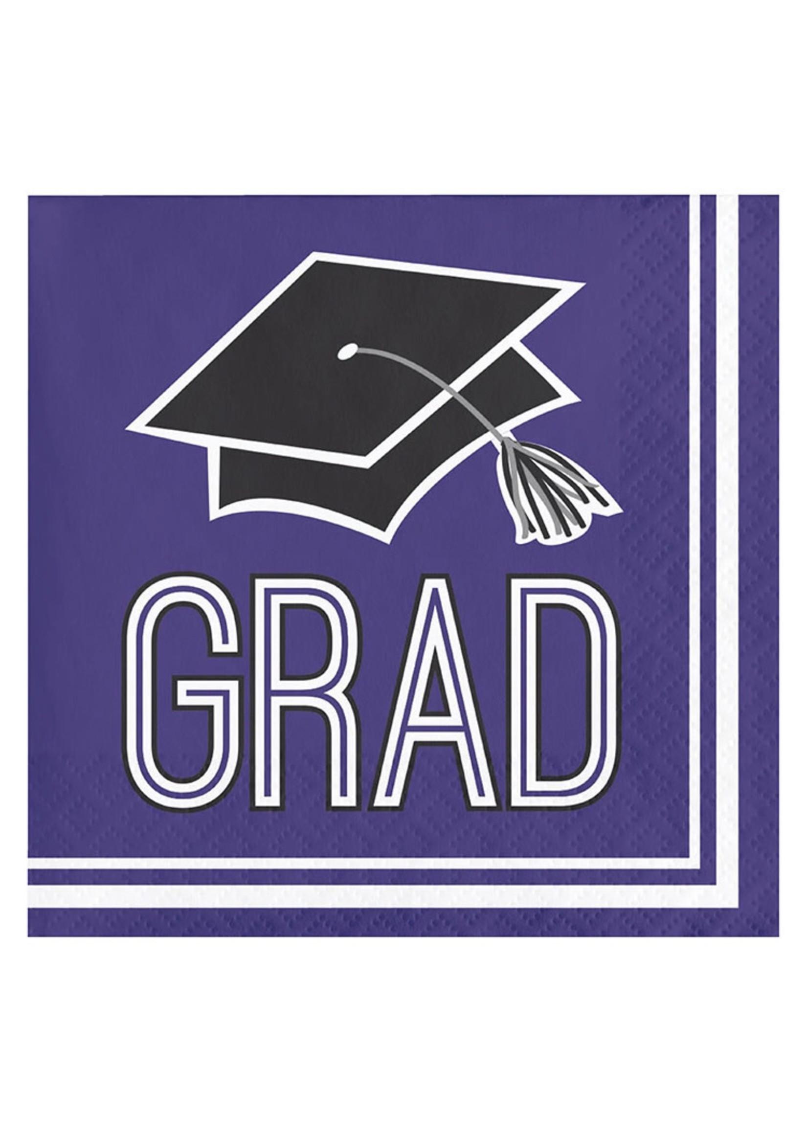 Creative Converting Purple Grad Beverage Napkins - 36ct