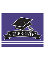 Creative Converting Purple Grad Invitations - 25ct