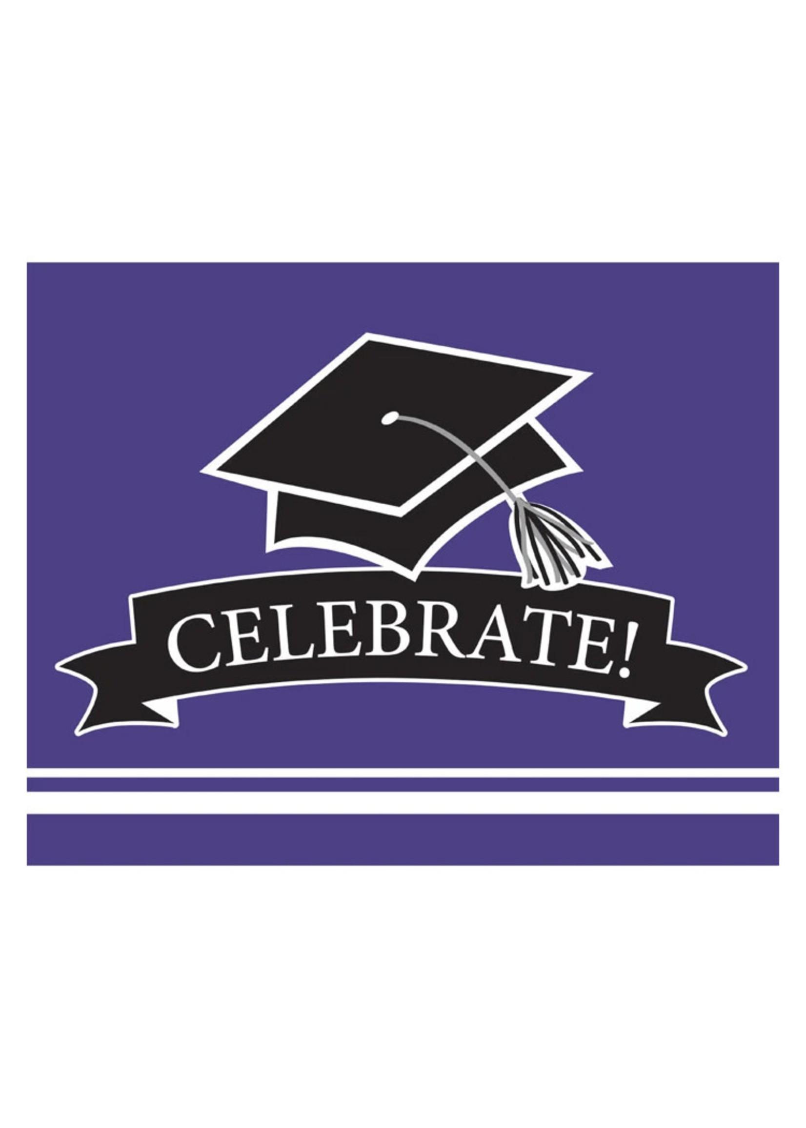 Creative Converting Purple Grad Invitations - 25ct