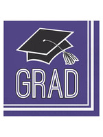 Creative Converting Purple Grad Lunch Napkins - 36ct