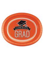"Creative Converting Orange Grad Oval Platters, 10"" X 12"" - 8ct"