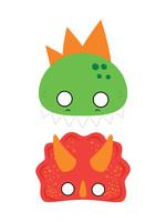 Dino-Mite Masks 8ct