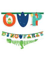 Dino-Mite Personalized Birthday Banner Kit 2ct