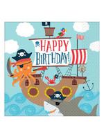 Ahoy Birthday Lunch Napkins - 36ct
