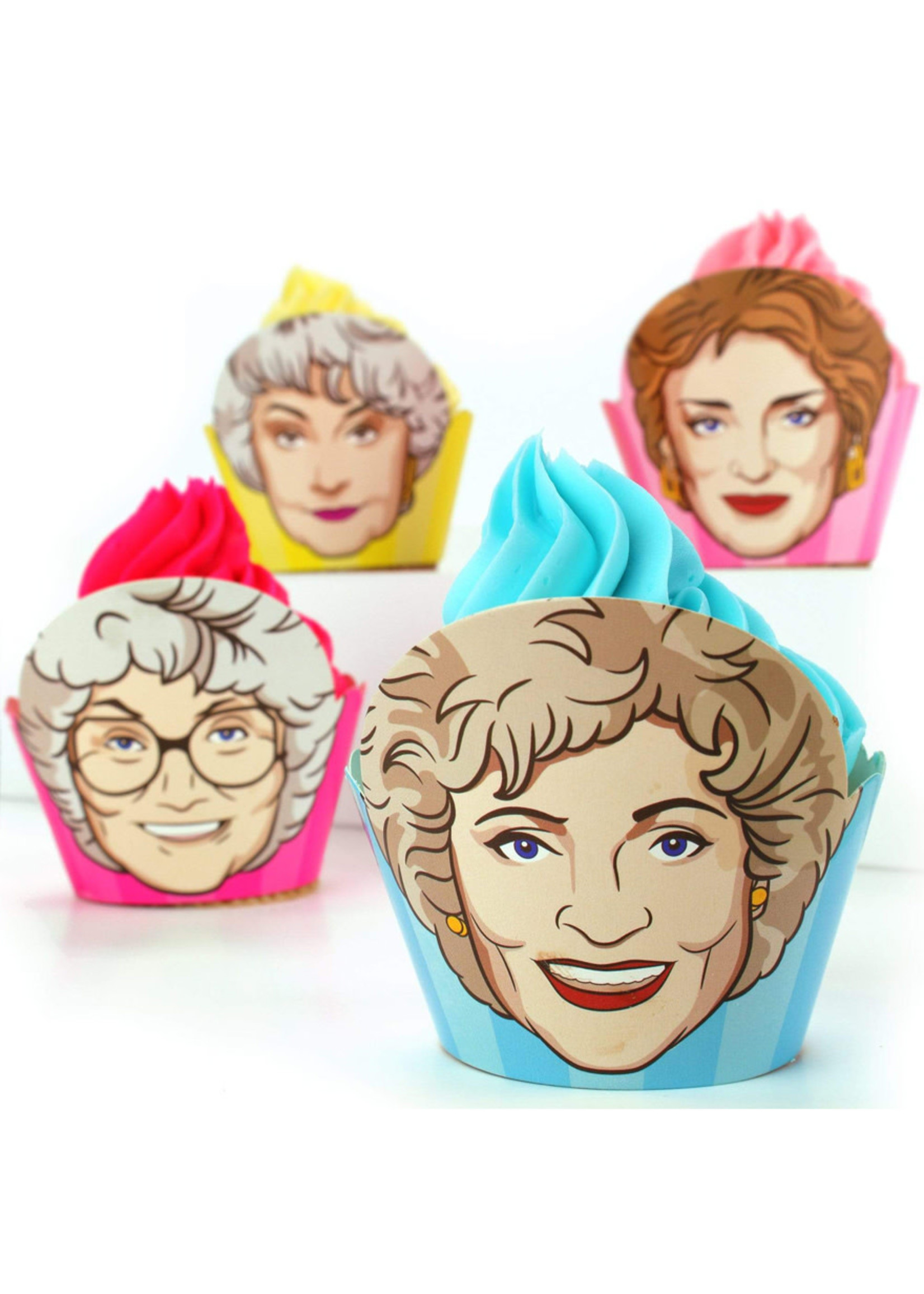 PRIME PARTY Golden Girls Cupcake Wrappers (Set of 12)