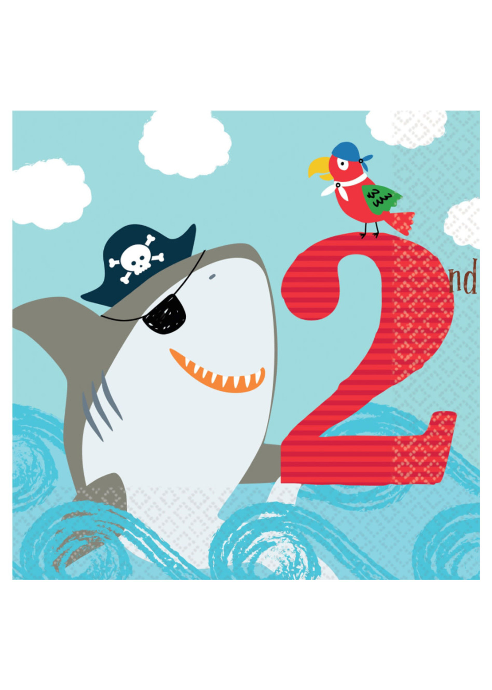 "Ahoy Birthday ""2nd Birthday"" Lunch Napkins - 36ct"