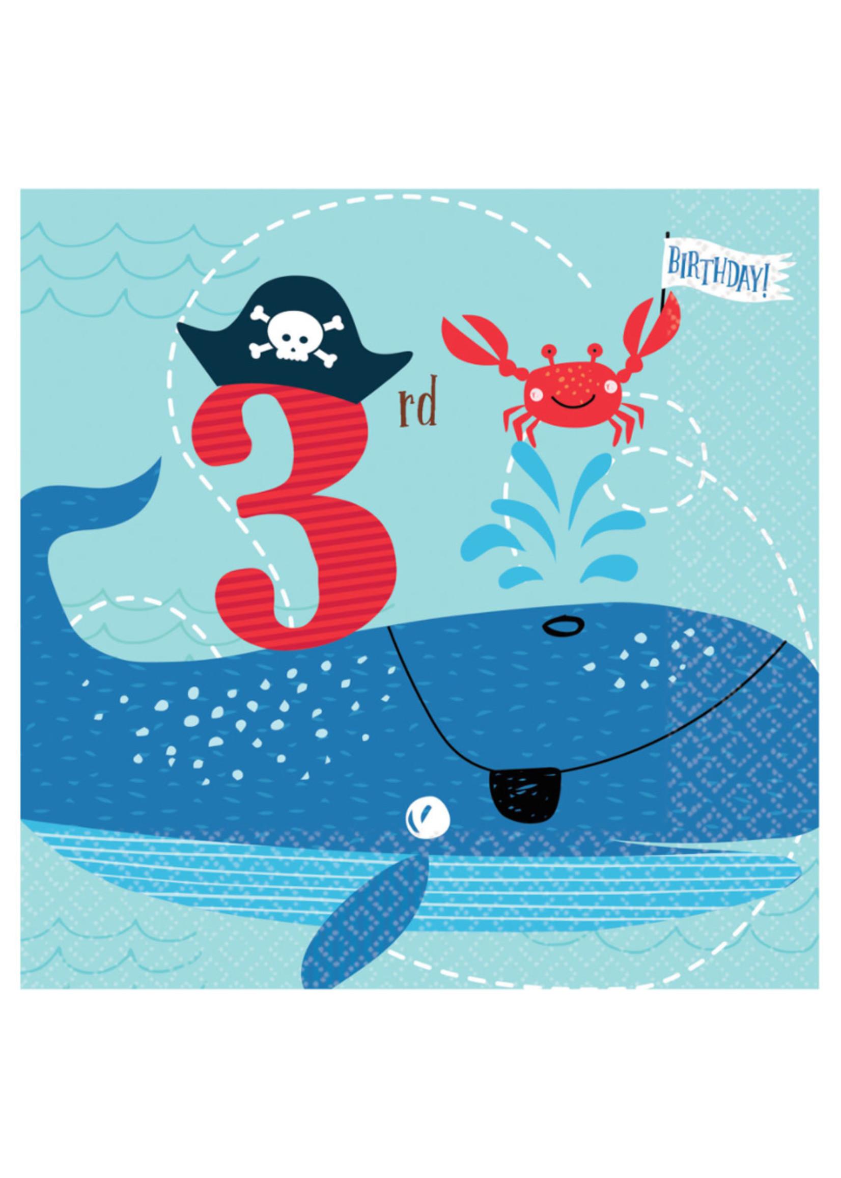 "Ahoy Birthday ""3rd Birthday"" Lunch Napkins - 36ct"