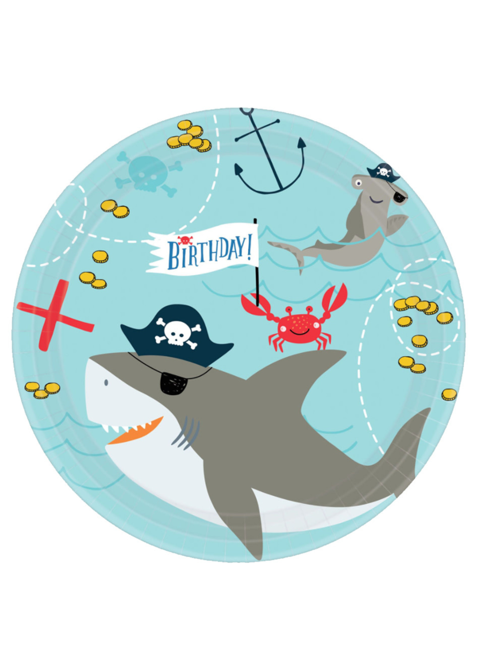 Ahoy Birthday Round 7inch Plates - 18ct