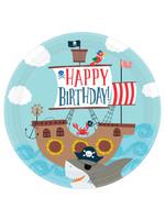 "Ahoy Birthday Round Plates, 10 1/2""- 18ct"