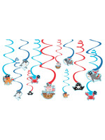 Ahoy Birthday Value Pack Foil Swirl Decorations