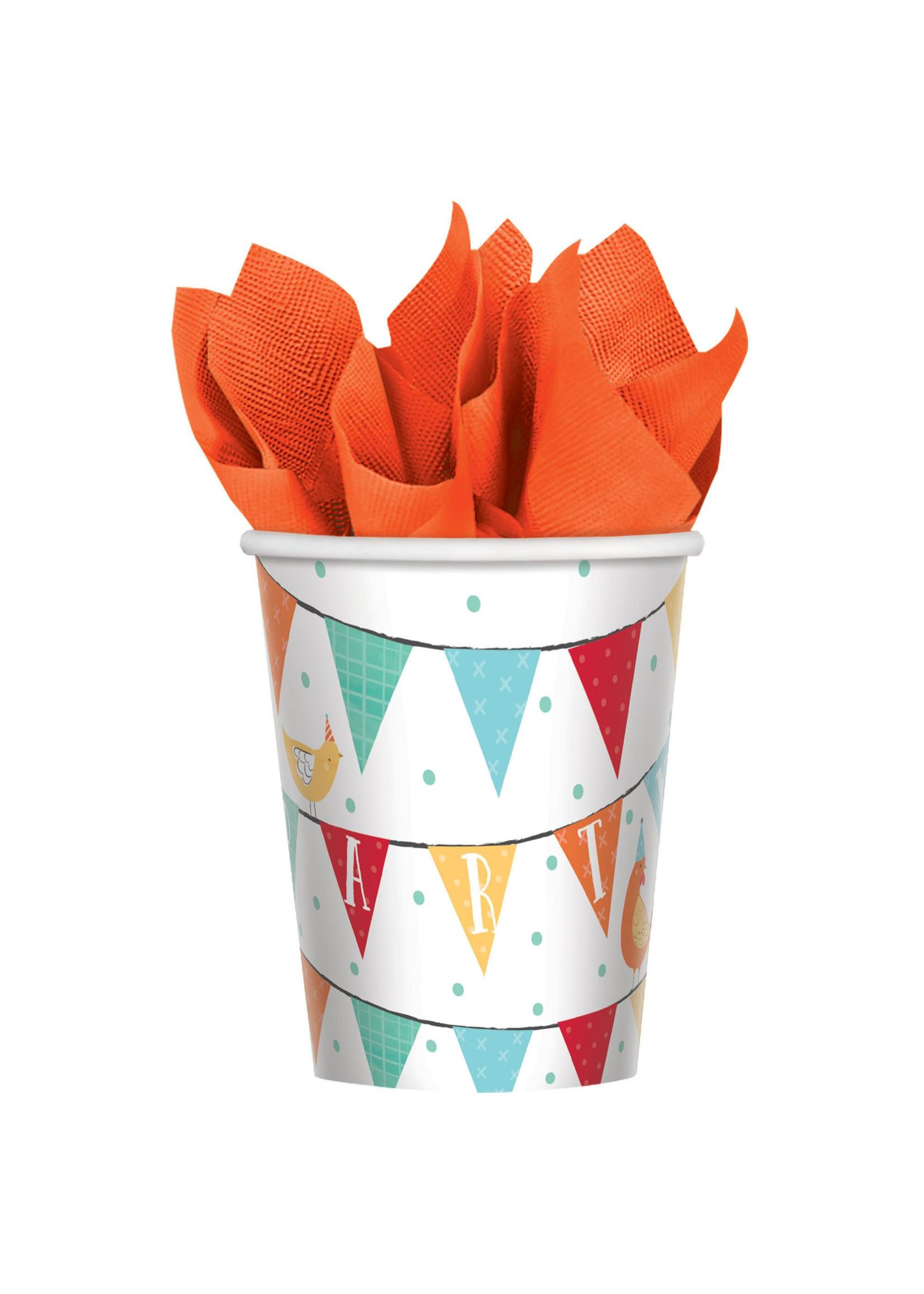 Barnyard Birthday Cups, 9oz - 8ct