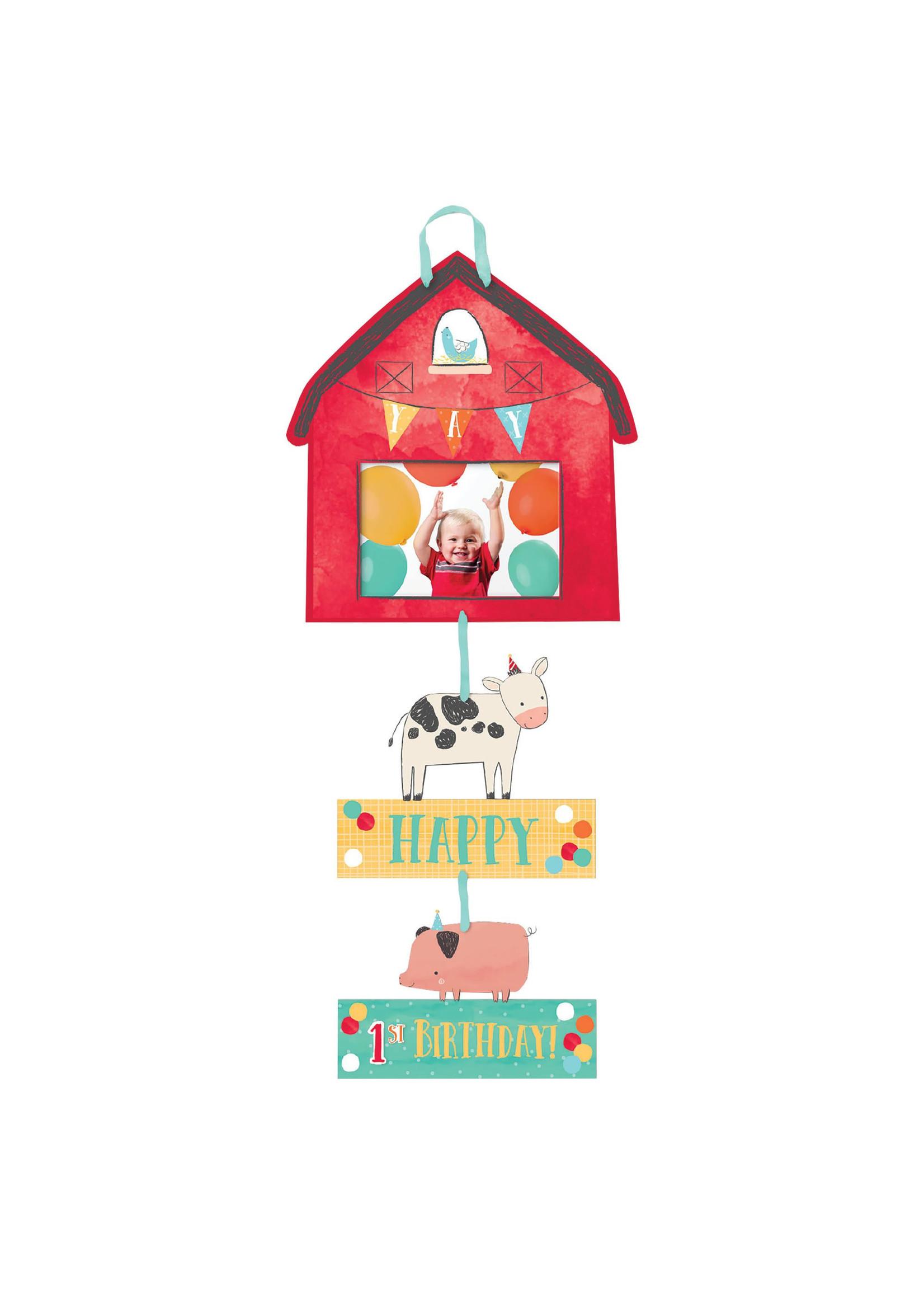 Barnyard Birthday Personalized Photo Sign